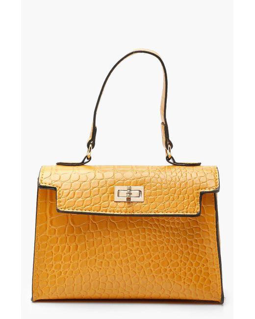 Boohoo - Multicolor Croc Mini Grab Bag - Lyst ... 62ea4b1be3a25