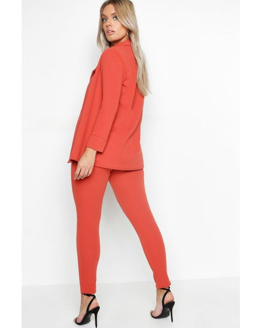 d5ae2a9ce4f1 ... Boohoo - White Plus Blazer & Pants Suit Co-ord - Lyst