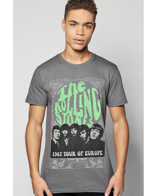 Boohoo   Gray The Rolling Stones License T-shirt for Men   Lyst