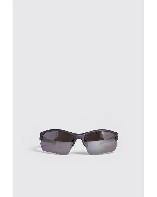 f44555c324a BoohooMAN - Metallic True Sport Mirror Lens Sunglasses for Men - Lyst ...