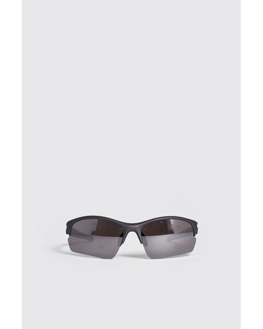 f31bf601169 BoohooMAN - Metallic True Sport Mirror Lens Sunglasses for Men - Lyst ...
