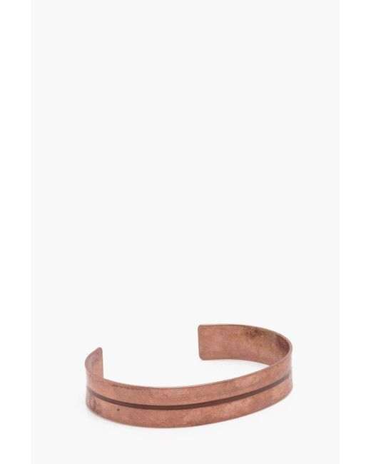 Boohoo - Multicolor Copper Bracelet With Engraved Detail - Lyst