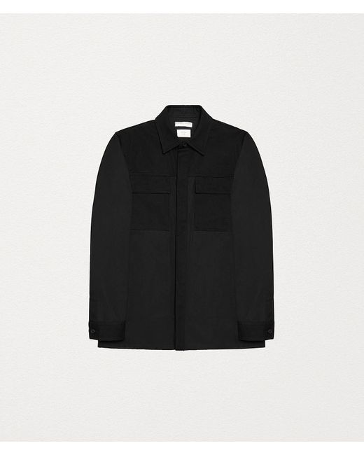 Bottega Veneta Black Shirt Jacket In Cotton for men