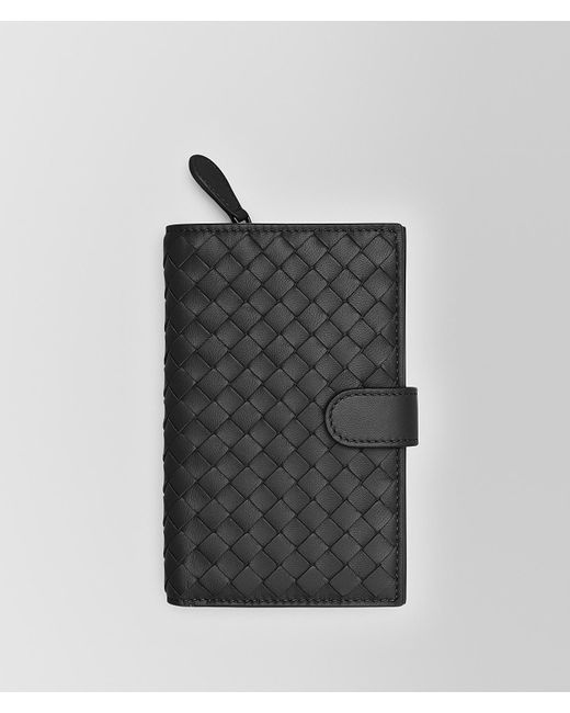 Bottega Veneta - Black Continental Wallet In Tourmaline Intrecciato Nappa - Lyst