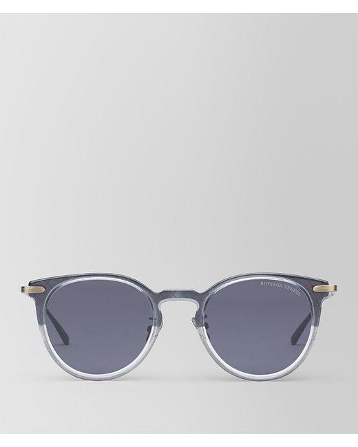 Bottega Veneta - Gray Grey/nero Metal Sunglasses - Lyst