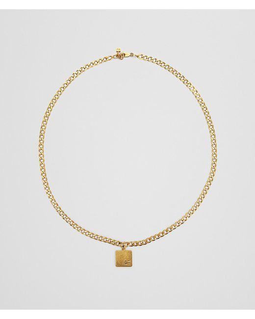 Bottega Veneta - Metallic Necklace In Sterling Silver for Men - Lyst