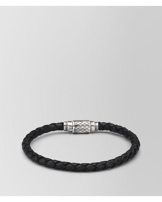 2295a6b43aedc Bottega Veneta Nero Intrecciato Nappa Bracelet in Black for Men - Lyst