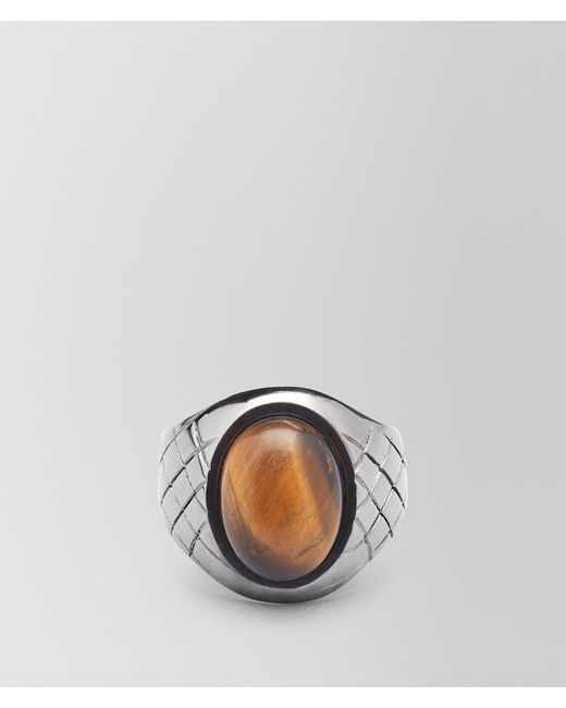 Bottega Veneta - Metallic RING AUS TIGERAUGE for Men - Lyst