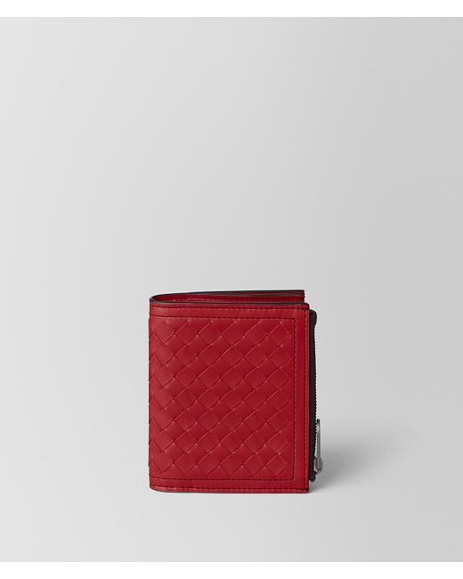 Bottega Veneta - China Red Intrecciato Calf Wallet for Men - Lyst