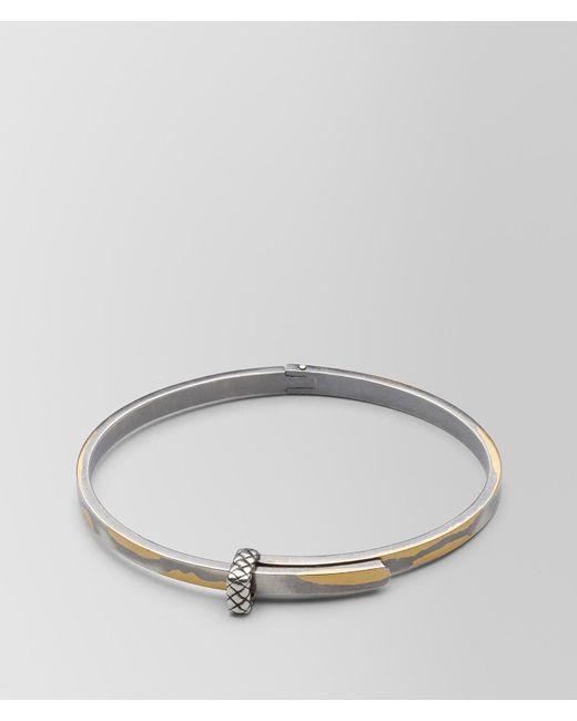 Bottega Veneta - Metallic Antique Silver/yellow Gold Patina Bracelet - Lyst