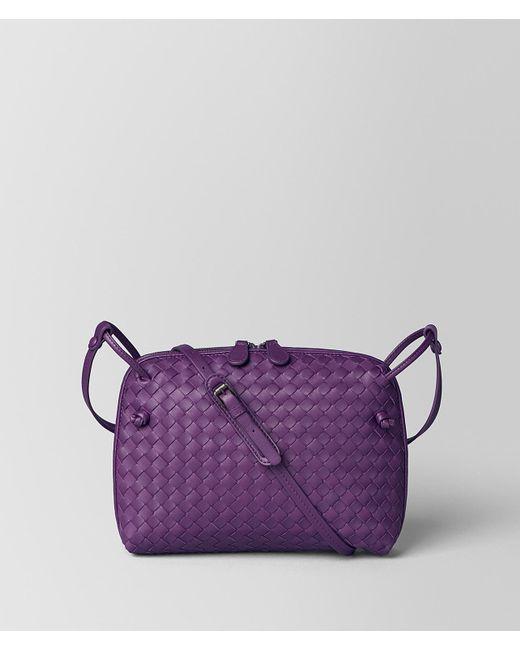 Bottega Veneta - Purple Monalisa Intrecciato Nappa Messenger - Lyst