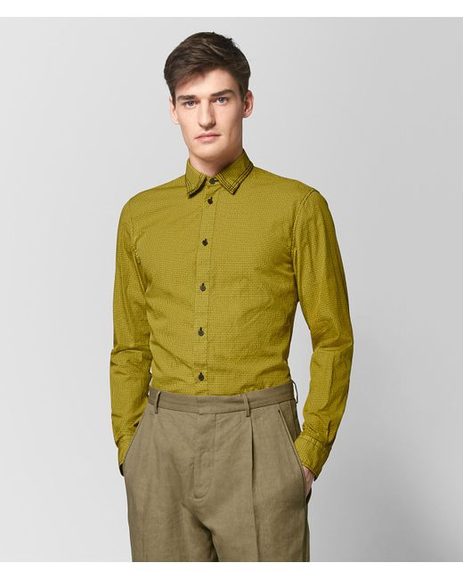 Bottega Veneta - Green Chamomile Cotton Shirt for Men - Lyst
