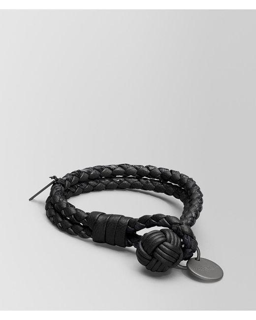 Bottega Veneta - Black Nero Intrecciato Nappa Bracelet - Lyst