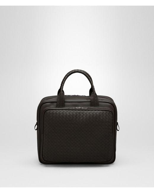 7a553ea35fad Bottega Veneta - Black Briefcase In Espresso Intrecciato Vn for Men - Lyst  ...