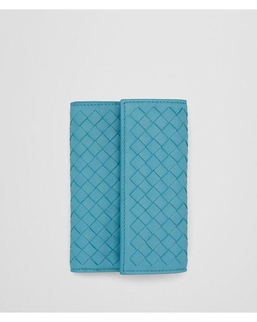 Bottega Veneta - Blue Aqua Intrecciato Nappa Continental Wallet - Lyst