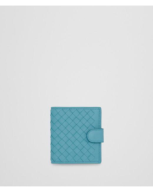 Bottega Veneta - Blue Aqua Intrecciato Nappa Mini Wallet - Lyst