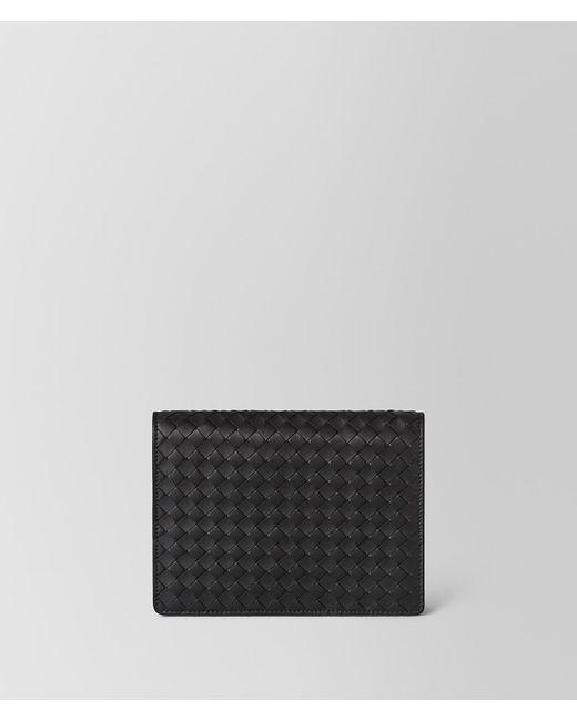 Bottega Veneta - Black Nero Intrecciato Nappa Chain Wallet - Lyst