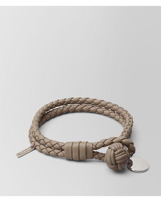 Bottega Veneta - Multicolor Limestone Intrecciato Nappa Bracelet - Lyst