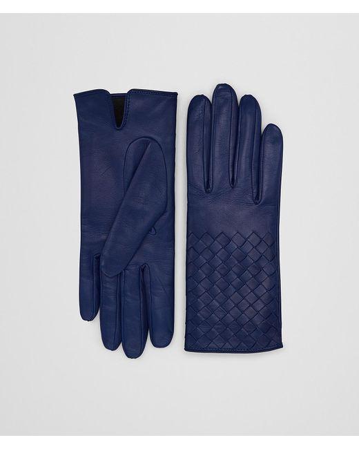 Bottega Veneta - Blue Atlantic Lamb Glove - Lyst