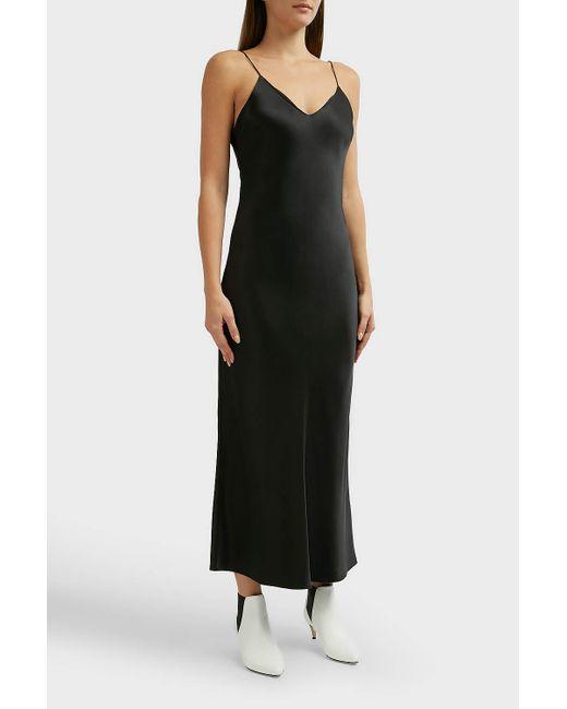 b8bfc80b255 ... Anine Bing - Black Rosemary Silk Slip - Lyst ...