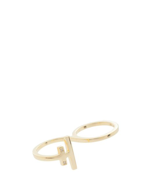 Maria Black | Metallic Diamond Wrap Ring | Lyst