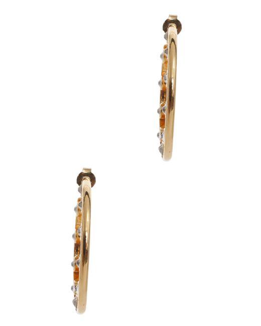 Ca&Lou | Metallic Crystal Hoop Earrings | Lyst
