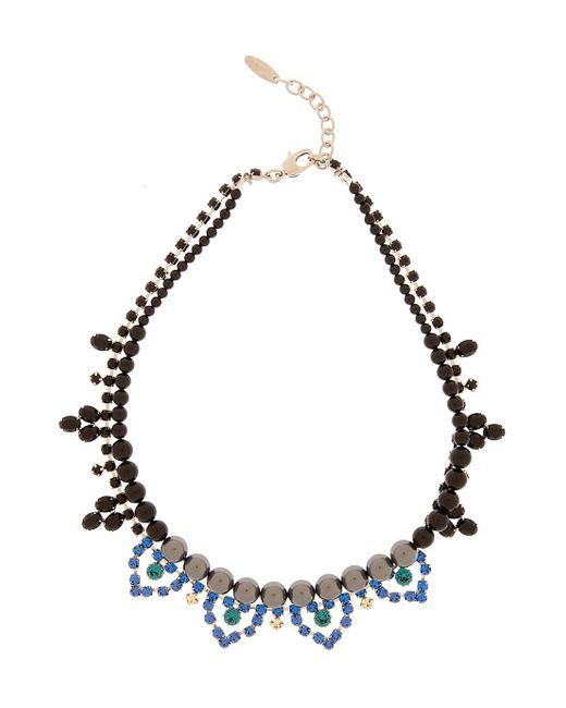 Joomi Lim | Blue Crystal & Pearl Necklace | Lyst