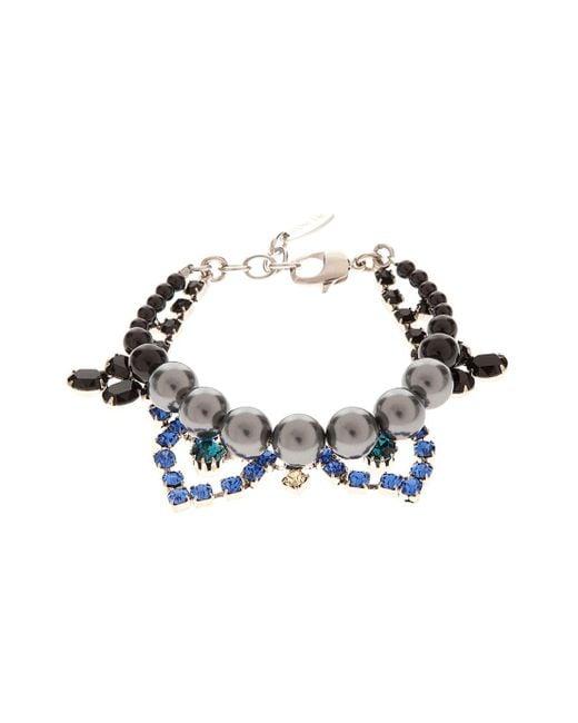 Joomi Lim | Blue Crystal & Pearl Bracelet | Lyst