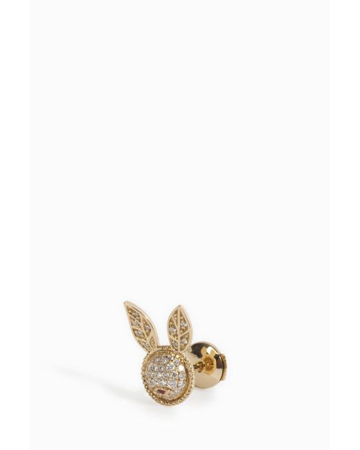 Yvonne Léon   Multicolor Diamond Rabbit Earring   Lyst