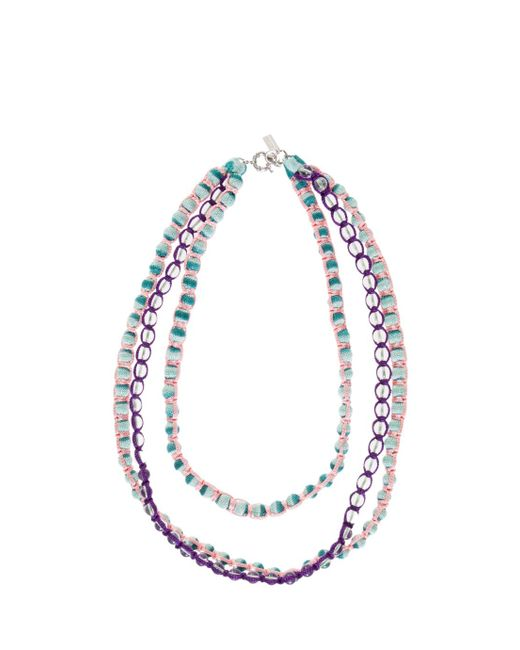 Missoni | Blue Triple Beaded Necklace | Lyst