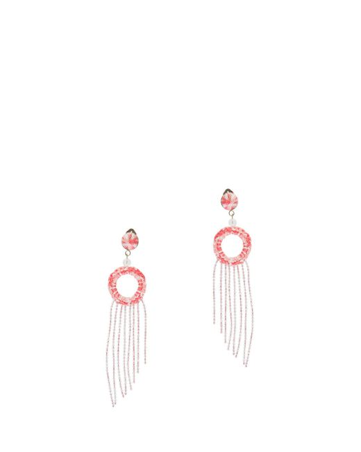 Missoni | Pink Fringed Earrings | Lyst