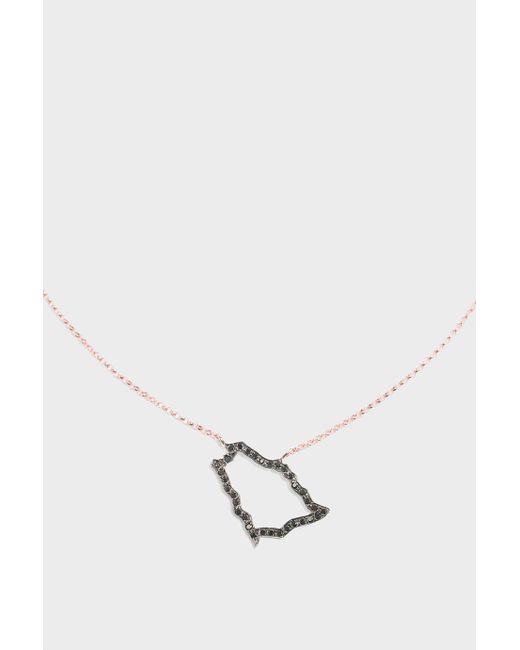 TIBA | Multicolor Saudi Map Outline Necklace | Lyst