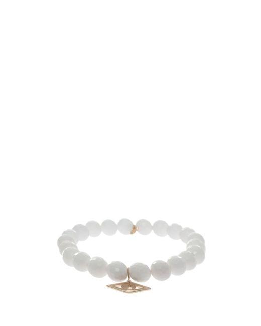 Sydney Evan | White Eye Pendant Bracelet | Lyst