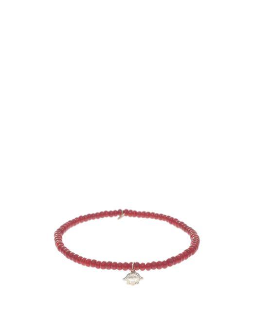 Sydney Evan | Red Hamsa Charm Bracelet | Lyst