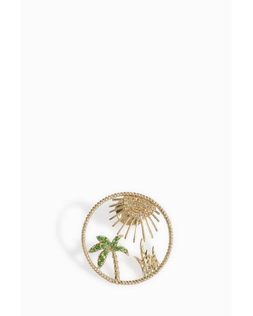 Yvonne Léon - Multicolor Soleil Palm Tree Earring - Lyst