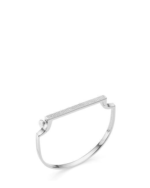 Monica Vinader | Metallic Signature Thin Diamond Bangle | Lyst
