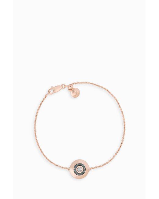 Monica Vinader - Evil Eye Disc Bracelet, Size Os, Women, Metallic - Lyst