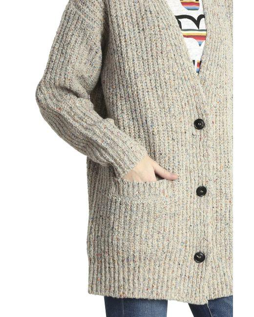 etoile isabel marant Hamilton Oversized Knitted Cardigan ...