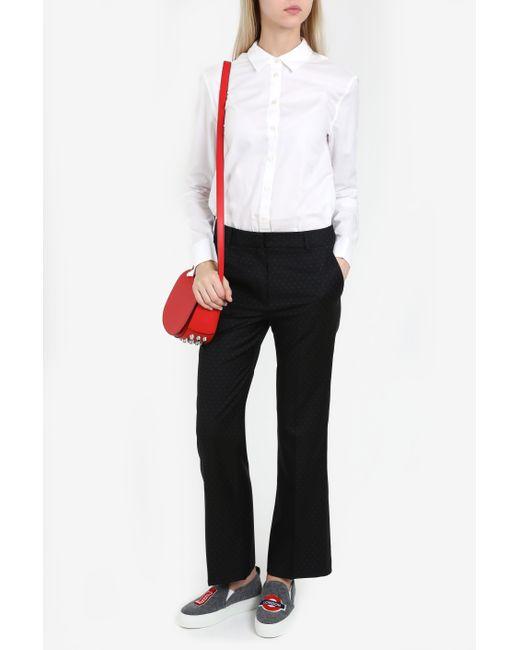 Paul & Joe | Black Micro Dot Straight Trousers | Lyst
