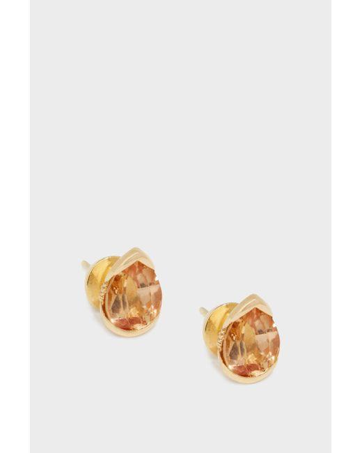 Fernando Jorge - Metallic Bloom 18-karat Gold Diamond And Imperial Topaz Earrings - Lyst