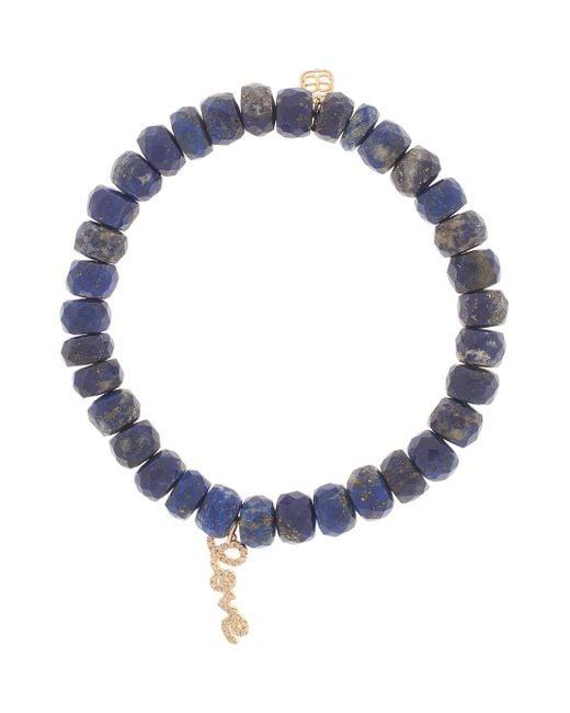 Sydney Evan | Love Blue Chalcedony Bead Bracelet with Pav Diamonds | Lyst