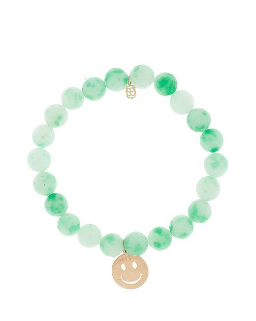 Sydney Evan | Green Smiley Charm Bracelet | Lyst