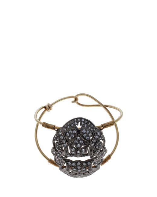 Maha Lozi | Metallic Art Deco Cuff | Lyst