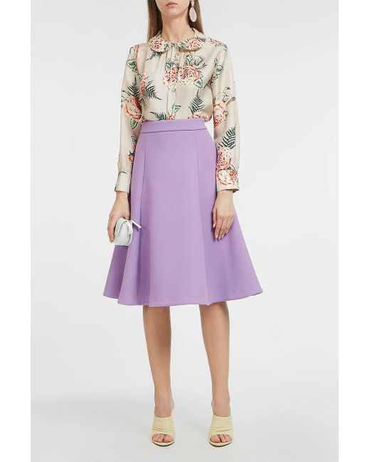 Paul & Joe - Multicolor Floral-print Long Sleeve Silk Blouse - Lyst