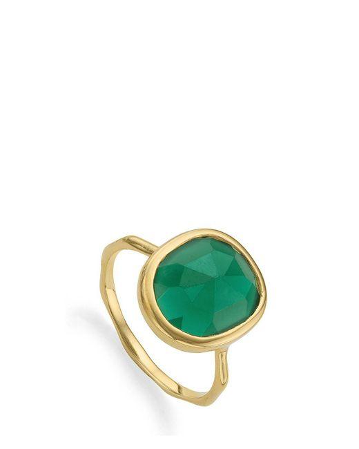 Monica Vinader | Green Medium Siren Ring | Lyst