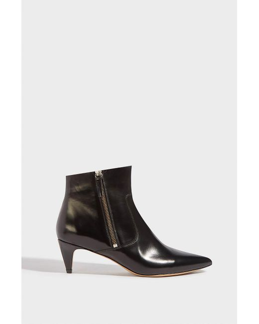 Isabel Marant - Black Deby Leather Ankle Boots - Lyst
