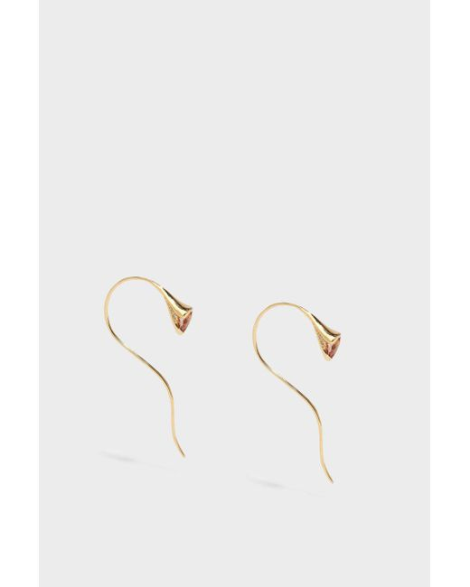 Fernando Jorge - Metallic Sprout 18-karat Gold Diamond And Imperial Topaz Earrings - Lyst