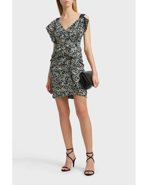 Étoile Isabel Marant - Black Topaz Printed Linen Dress, Fr38 - Lyst