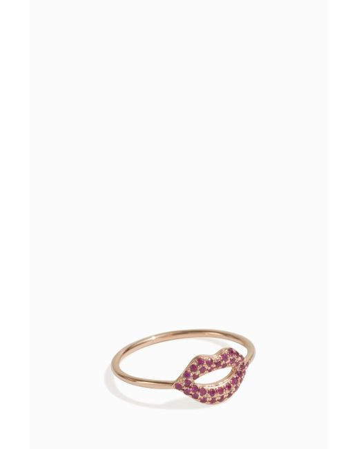 Sydney Evan | Multicolor Lips Ring | Lyst