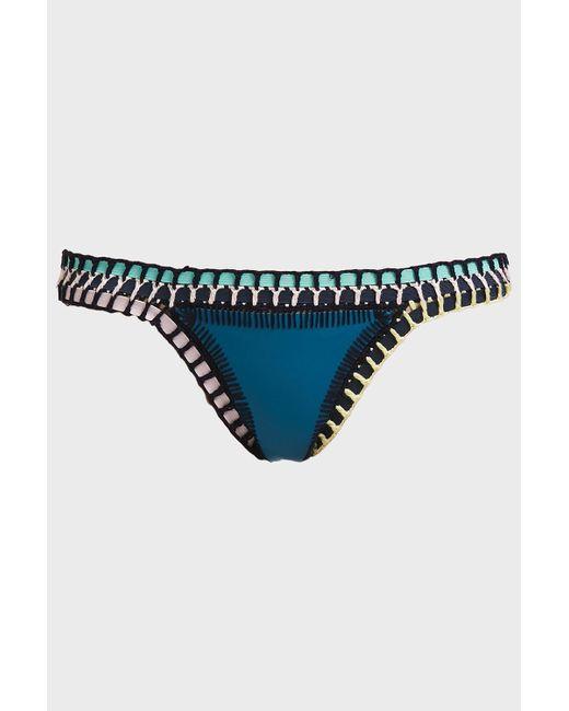 KIINI - Blue Flor Bikini Bottoms - Lyst
